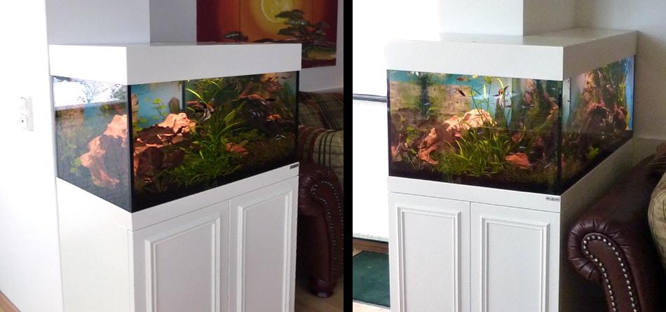 Aquariumschrank Lack weiss in Uehlfeld 1